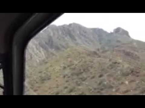 Aerotec: Collecting Airborne LIDAR Data - El Paso, TX (mountains)