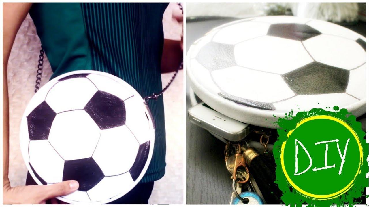 DIY: Soccer Ball Clutch / Crossbody (Bolsa de Football) - YouTube