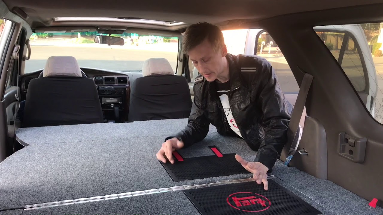 2017 Toyota 4Runner >> 3rd Gen 4Runner Sleeping/Storage System - YouTube