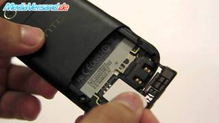 HTC Desire S SIM-Karte und Akku einsetzen
