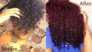 I DYED MY HAIR RED!! | NO BLEACHING | THE BEST WAY TO DYE DARK HAIR | L'Oreal Hicolor | frizzeecurlz