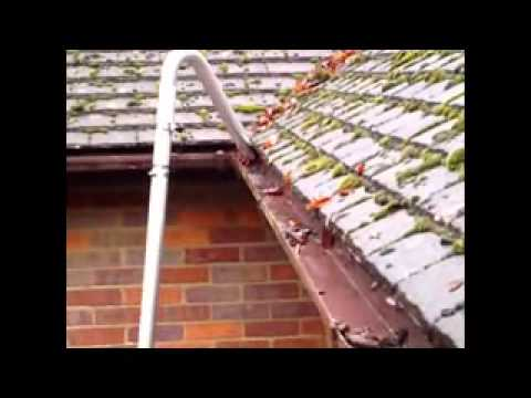 Gutter Cleaning With Pressure Washing Wmv Youtube