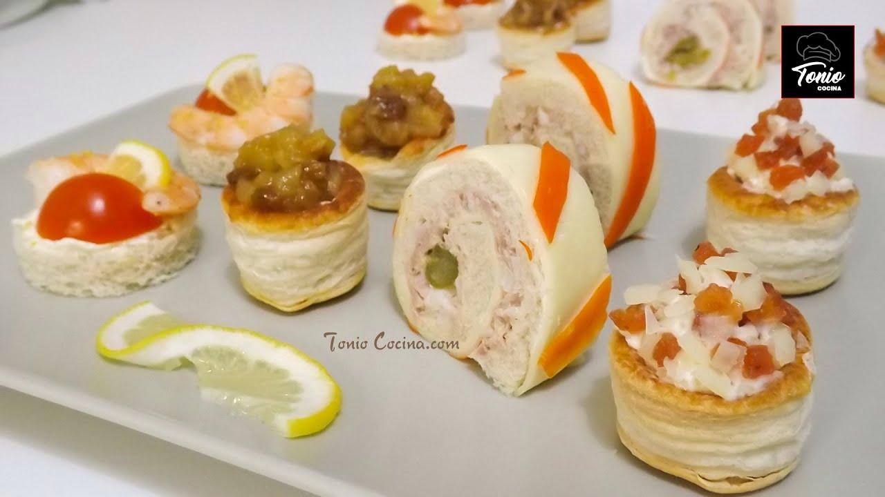Canap s variados 6 aperitivos f ciles r pidos y for Canapes faciles y rapidos