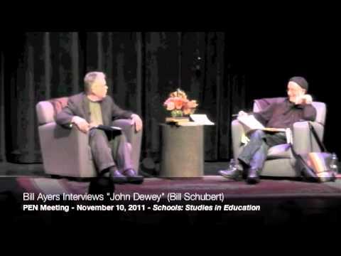 """Bill Ayers interviews """"John Dewey"""" (Bill Shubert) at the 2011 PEN Meeting, part 6/9"""