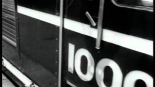 LMS diesel electric 10000 prototype, newsreel clip