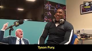 Anthony Joshua Impressions Of Tyson Fury, Deontay Wilder And Joseph Parker