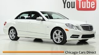 Chicago Cars Direct Presents a 2012 Mercedes-Benz E350 Sport 4Matic. Arctic White/Black. #565732