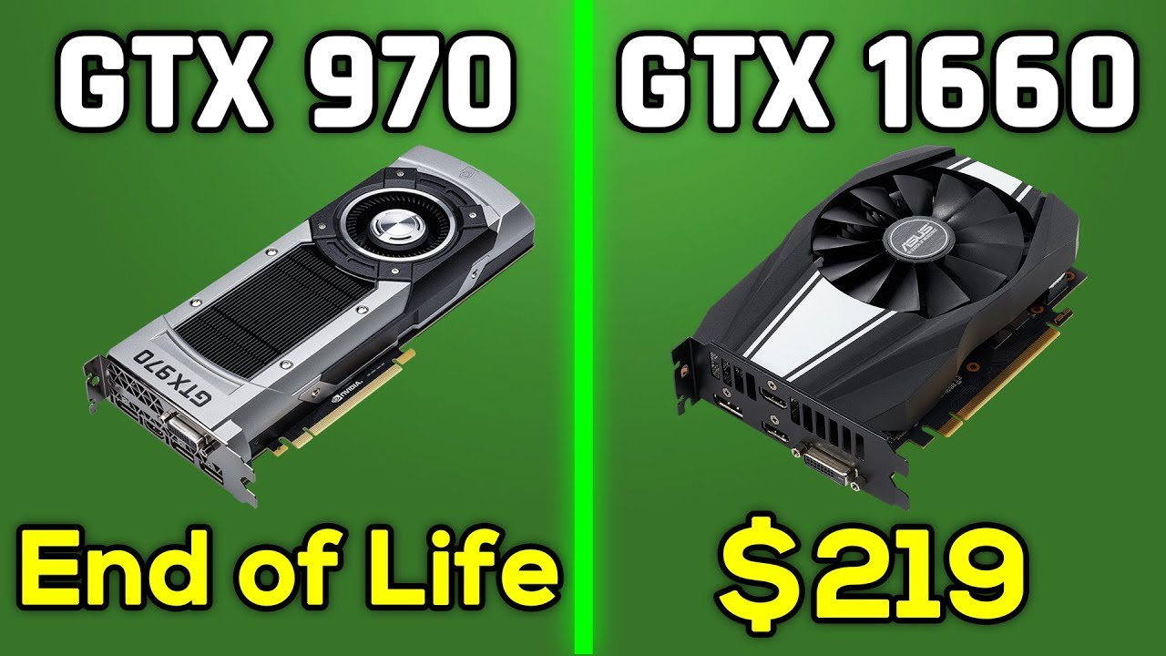 GTX 970 in 2019 Games? VS  GTX 1660, RTX 2060, GTX 1060 & RX 580