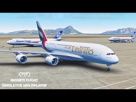 Infinite Flight Global Emirates Airlines Airbus A380 - Hong Kong - Bangkok