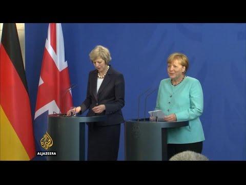 UK's May pledges close ties with Germany in Merkel meeting