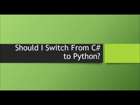 Should I Switch From C# to Python?