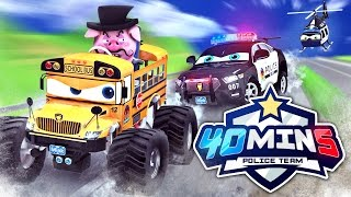 Appmink Team Police Chase Part 1 | Police Car & Police Helicopter - appMink Playlist 40 mins