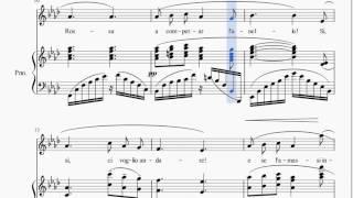Puccini - O mio babbino caro KARAOKE [instrumental piano accompaniment w/ score]