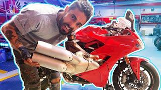 Que le hicimos a la Ducati? SUENA IRREAL (FULL AKRAPOVIC)😱 Ducati Supersport