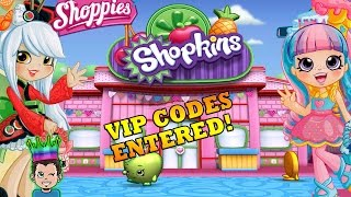 lets play welcome to shopville vip codes entered for new shoppies rainbow kate sara sushi