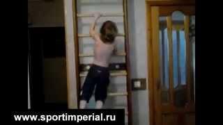 Упражнения для шведской стенки. Купить шведскую стенку!(Упражнения для шведской стенки в исполнении маленького мальчика. Купить данную шведскую стенку Вы можете..., 2015-01-21T11:20:00.000Z)
