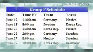 World Cup 2018 fixtures and groups