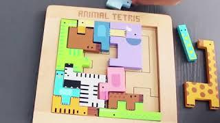 Деревянный пазл GoryeoBaby - Tetris