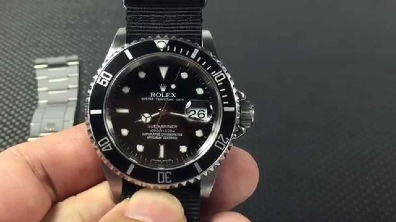 rolex submariner 16610 t date review youtube. Black Bedroom Furniture Sets. Home Design Ideas