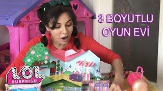 Bade Lol Bebeklerine Eğlenceli Arkadaşlar 3 Boyutlu Oyun Evi Kuruyor