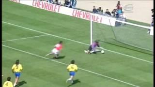 Gary Lineker penalty miss, EngĮand v Brazil 1992