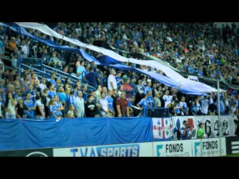 1642 MTL Banderole Bleu Blanc Noire - Montreal Impact Supporters