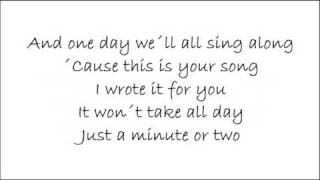 This is your song - Ronan Keating +Lyrics