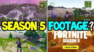 "*NEW* Fortnite ""SEASON 5 GAMEPLAY / FOOTAGE ?"" - SEASON 5 LEAKED FILES MAPS LOCATIONS / POI's"