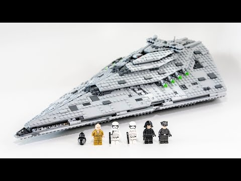 LEGO Star Wars First Order Star Destroyer (Timelapse & Revie
