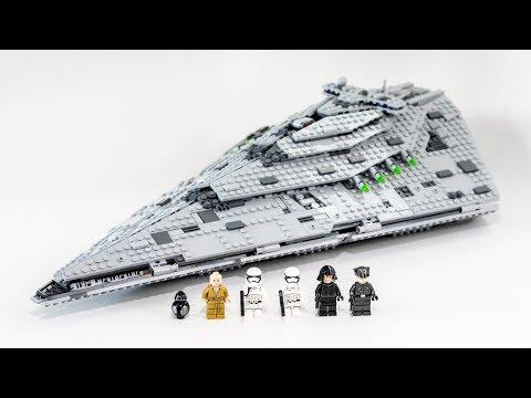 LEGO Star Wars First Order Star Destroyer (Timelapse & Review) - Set 75190