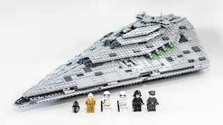 LEGO Star Wars First Order Star Destroyer (Timelapse & Review) - Set 75190