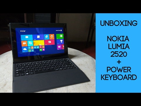 ✔ Unboxing Nokia Lumia 2520 + Nokia Power Keyboard (PT-BR) - Canal Noob Phone
