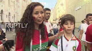 Russia: Football fans 'in love' with Moscow celebrate on city streets