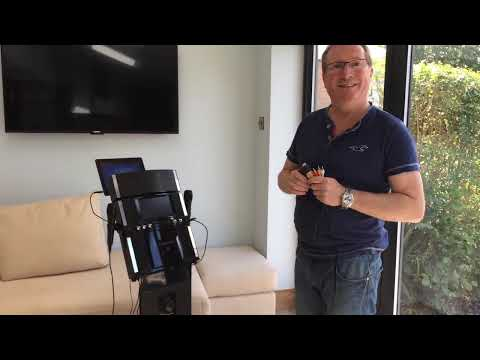 Connecting the Easy Karaoke unit to a TV screen