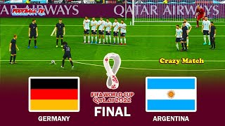 Germany vs Argentina FIFA World Cup 2022 Final Full Match All Goals eFootball PES 2021