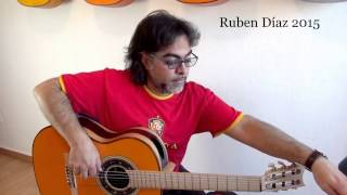 Linear flow (3) Whole tone & Double diminished scales with dynamics / Ruben Diaz Flamenco Guitar CFG