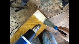 How to Remove Veneer from Wood Furniture!