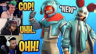 STREAMERS REACT TO *NEW* FLAPJACK & GROWLER SKINS! *DODOO* - FORTNITE BR