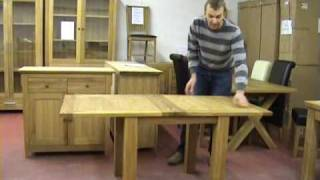 Flip Top Oak Dining Table