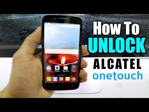 How To Unlock Alcatel One Touch / Fierce 2 / Evolve / Idol / Pop / AT&T / T-mobile / Rogers / etc.