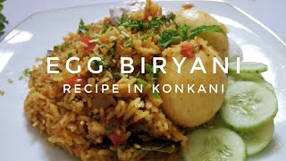 Egg Kushka Biryani in konkani, Konkani Recipes, easy biryani recipe cooked within 15 mins