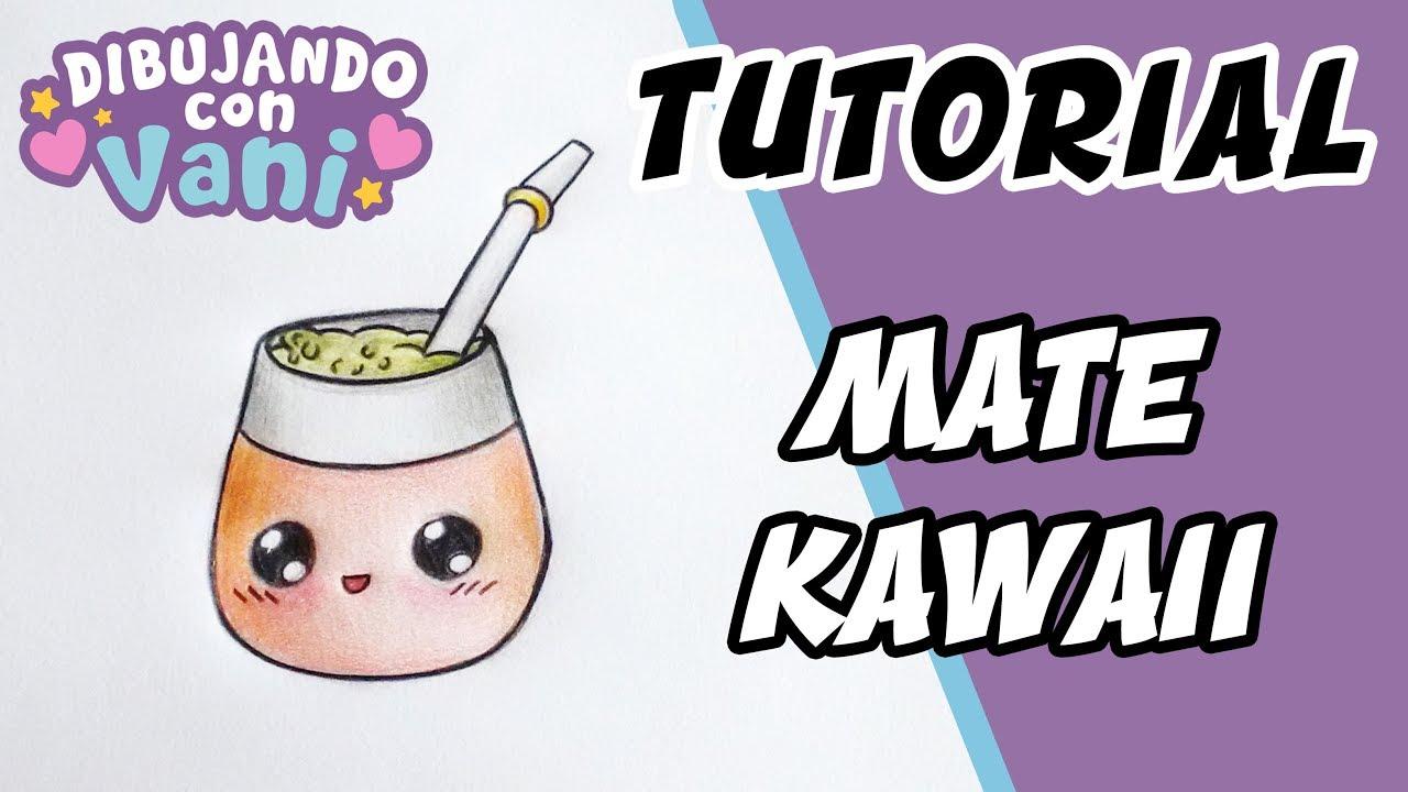 Como Dibujar Un Mate Kawaii Dibujos Anime Faciles Para Colorear Imagenes Kawaii Argentina