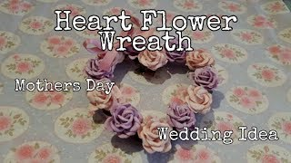 Mother's day - Wedding Decor - Flower Rattan Heart - The works - Wild Orchid Crafts