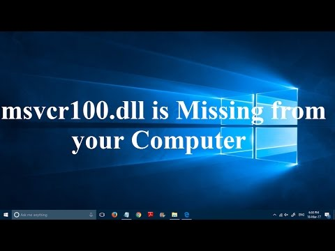 How To Fix MSVCR100.dll Is Missing From Your Computer Error In Windows 10