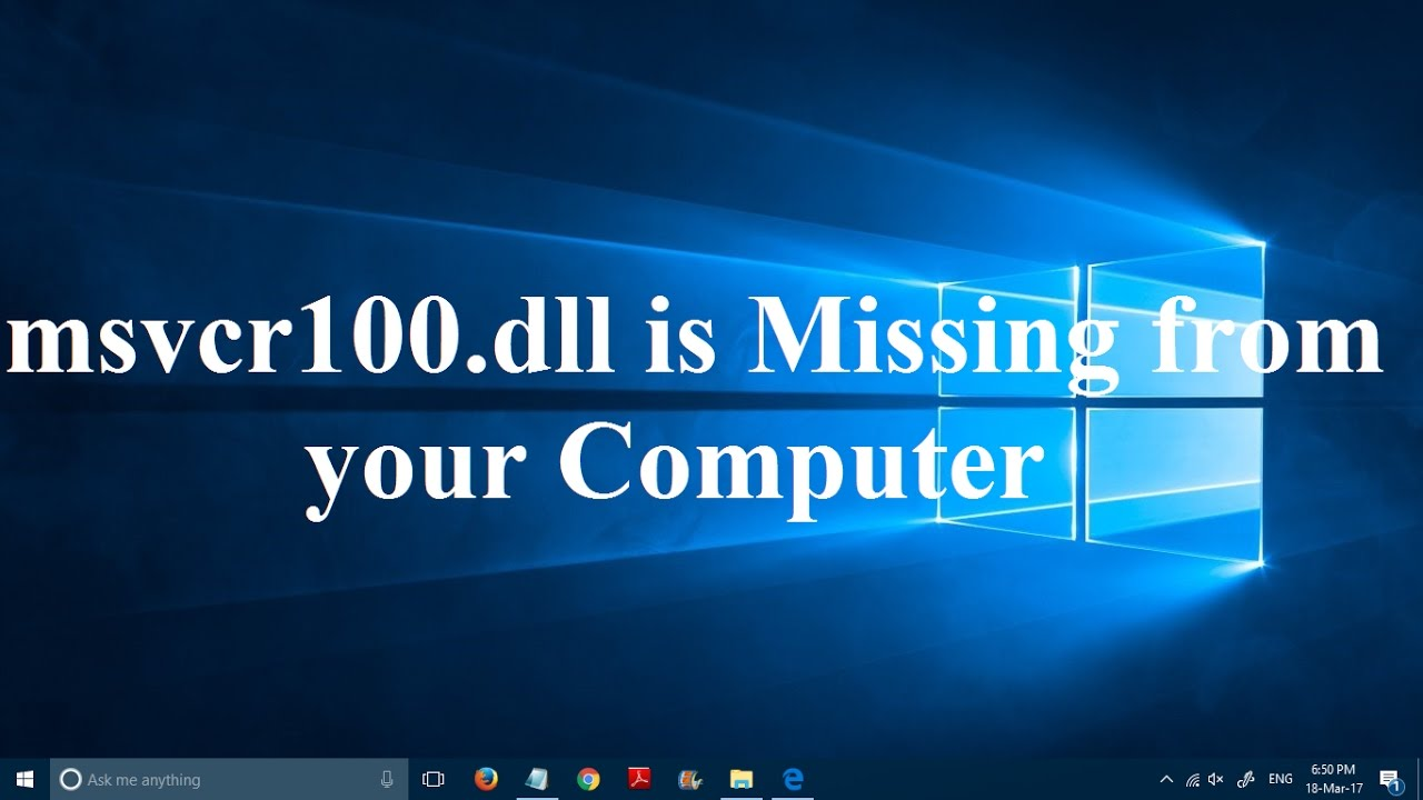 msvcp100d.dll is missing