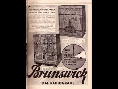 HMV-Columbia-Brunswick radiograms publicity 1932-1938