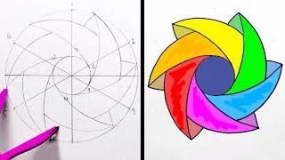 ١٩ فكرة لرسم أشكال هندسية وزخارف مدهشة Youtube