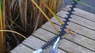 Boat Mounted Gas Powered Water Weed Wacker - cattail cutter