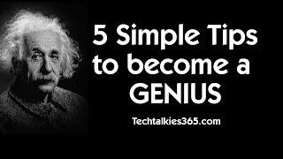 5 STEPS TO BECOME A GENIUS | Supergenius Secrets Revealed
