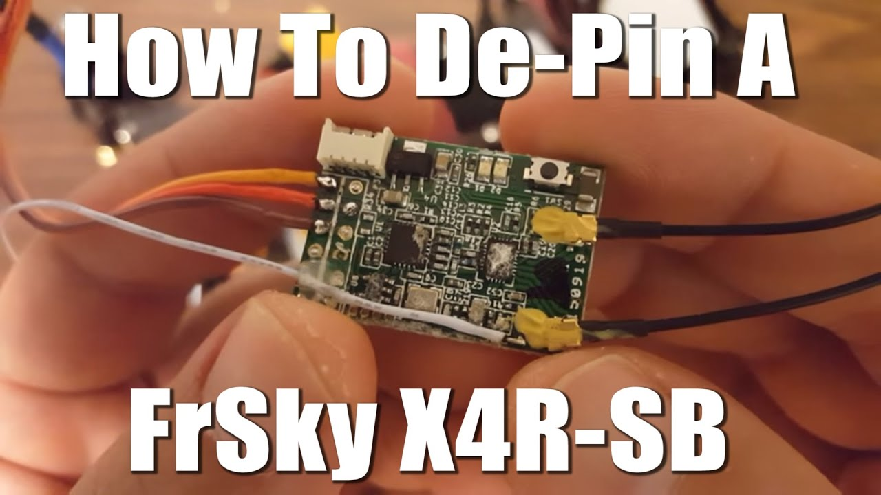 FrSky X4R-SB depinned, and discussion of og voltage vs. Telemetry on